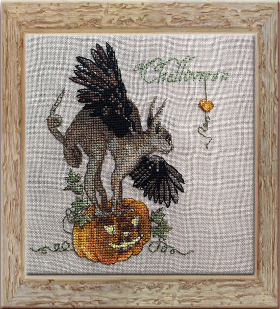 Challoween embroidery